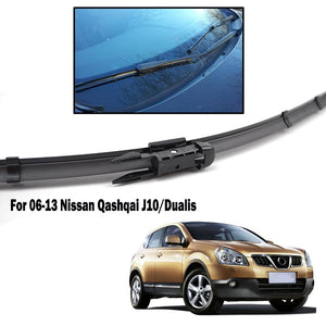 "Front Wiper Blades For Nissan Dualis J10 2006 - 2013 Windshield Windscreen Front Window 24""+15"""