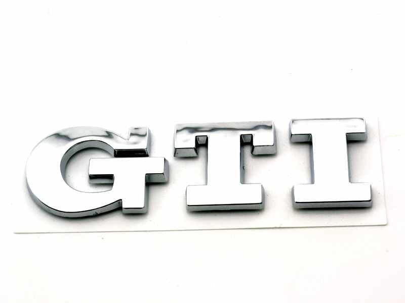 GTI Emblem Golf Sticker for Golf Polo MK GTI Rear Boot Trunk Car Badge