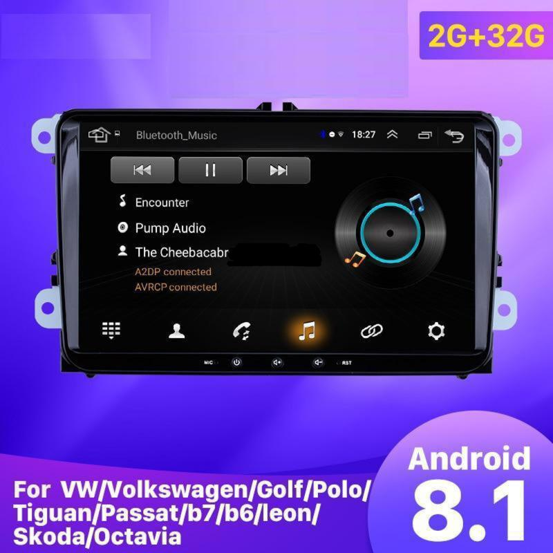 "Car GPS Radio 9"" 2din Android 8.1 Head Unit Multimedia Player for VW Volkswagen SEAT LEON CUPRA Skoda Passat b5 b6 CC"
