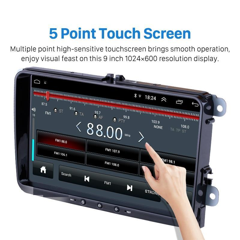 "VW Stereo 9"" 2din Android 8.1 Head Unit Multimedia Player for VW Golf 5 6 Skoda Passat Seat"