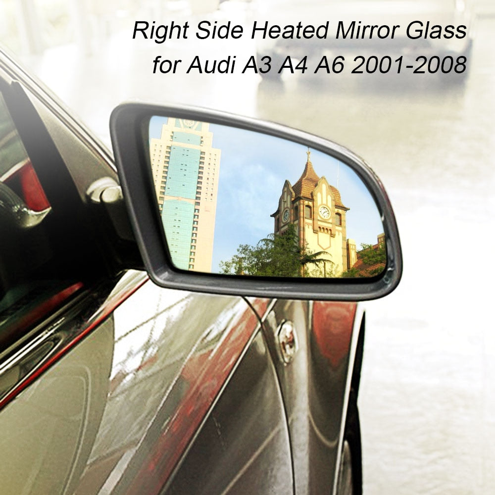 Right Side Heated Electric Wing Door Mirror Glass for Audi A3 A4 A6 2001-2008