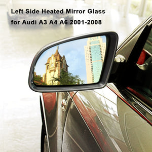 Left Side Heated Electric Wing Door Mirror Glass for Audi A3 A4 A6 2001-2008
