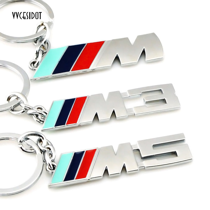 Fashion Metal Car Logo Key Ring Keychain For BMW Auto M 1 3 5 X X1 X3 X5 E3 E5 Z4