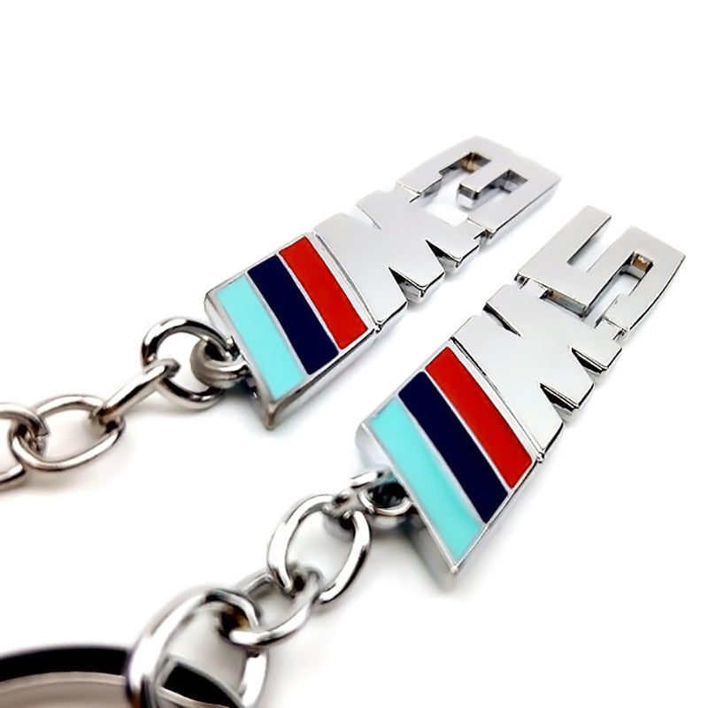 Fashion Metal Car Logo Key Ring Keychain For BMW-M