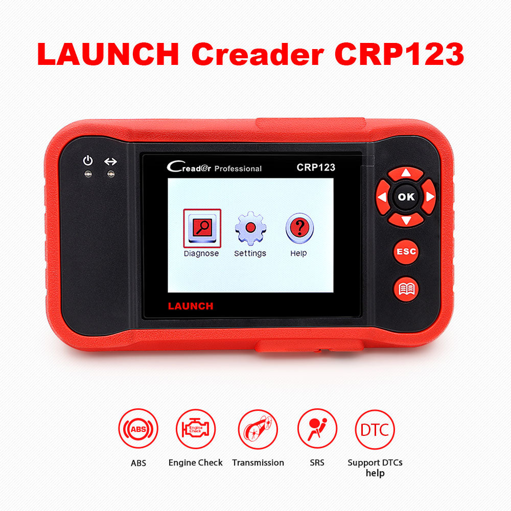 Launch X431 CRP123 Creader VIII OBD2 diagnostic tool for ENG/AT/ABS/SRS Multi-language free update