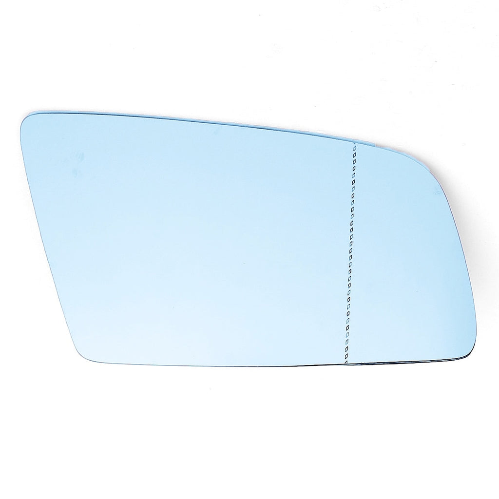 Right Side Blue Heated Electric Wing Mirror Glass For BMW 5 E60 E61 2003-2010