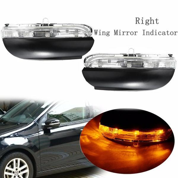 Right LED Rear View Mirror Indicator Lamp For VW Golf MK6 2009-2012 Touran 2009-2014