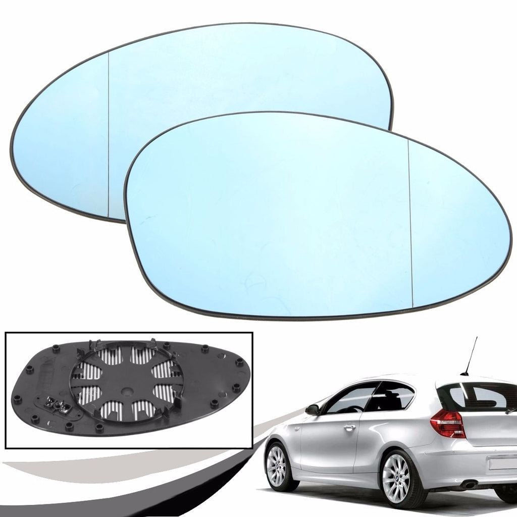 Left + Right Side Heated Rear View Mirrors Side Wing Mirror Glass For BMW E81 E82 E87 E88 E90 E91