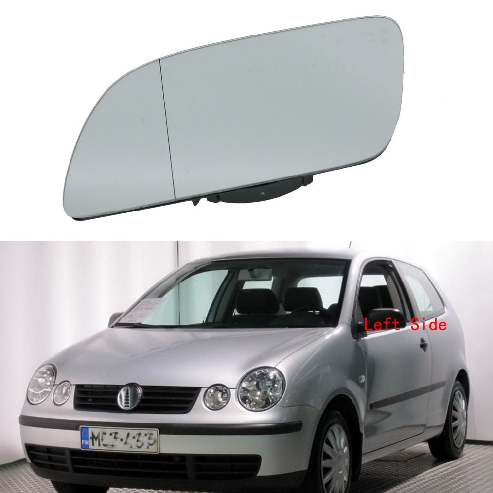 Left Side Car Mirror Glass For VW Polo 2002 2003 2004 2005 Heated Wing Side Mirror Glass