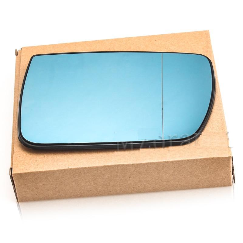 LEFT Side Door Wing Mirror Glass Heated Blue Left For BMW X5 E53 99-06 3.0i 4.4i Rearview Mirror