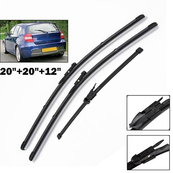 Windshield Windscreen Wiper Blades For BMW 1 Series E81 E87 Front Rear Window Set 2004 2005 2006 2007 2008 2009 2010