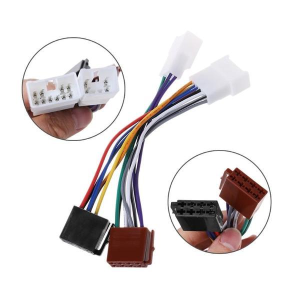 ISO Car Radio Wiring Harness Adapter Plug Cable For TOYOTA Lexus MR2 Rav Wiring Harness on