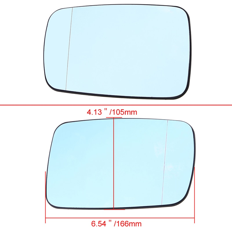 Left Side Rearview Mirror Glass With Heated Function for BMW E65 E46 Coupe