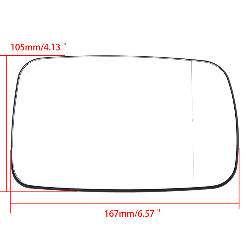 Left Side Rearview Mirror Glass Heated for BMW 3-Series E46 Coupe 1999.04-2006.06 Rear View Mirror