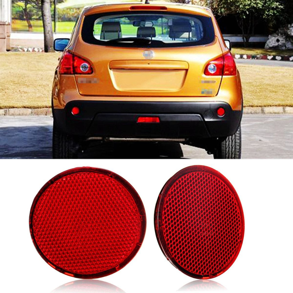 Left and Right Rear Bumper Reflectors Lights Brake Stop Light For Nissan QASHQAI 2007-2015