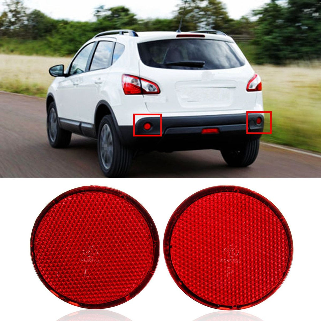 Left and Right Rear Bumper Reflectors Lights Brake Stop Light For Nissan Dualis QASHQAI 2007-2015