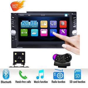 "Car Stereo 2 DIN 6.6"" Head Unit with Bluetooth and Steering wheel Control"