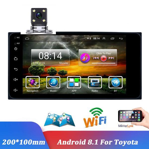 Android 7'' 2 Din GPS Navigation Car Radio Multimedia Video Player Bluetooth Mirror Link Auto Stereo For Toyota