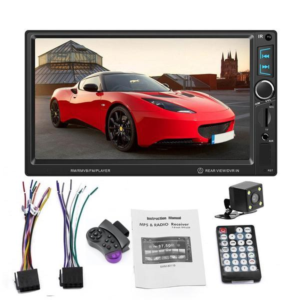 *NEW* Car Stereo Double DIN Head Unit with Rear View Camera, Bluetooth 4 x 60W