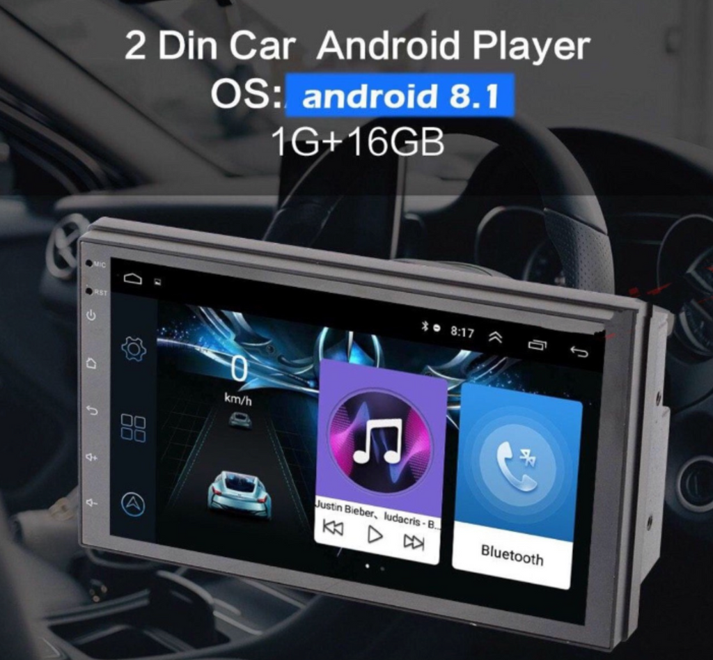 "**SPECIAL!** Android 8.1 Car Stereo 2 DIN 7"" + Compatible with Toyota Harness, GPS Navigation, Bluetooth, USB"