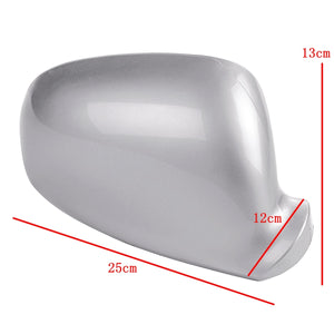 (LEFT) Rearview Side Wing Mirror Cover Silver For VW Golf Jetta MK5 2003 - 2009