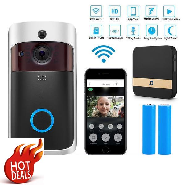 WI-FI Video Door Bell CCTV Doorbell IR Alarm Wireless Security Camera Doorbell