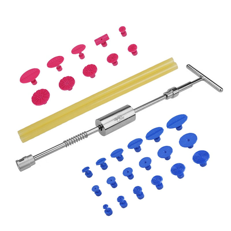 Paintless Dent Repair Tools Dent Puller Slide Hammer Puller Tabs Suction Cup Kit