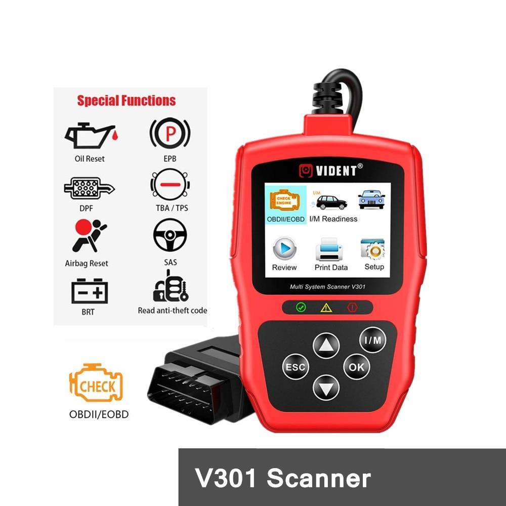 V301 Full System OBD2 Scanner Compatible with VW Audi Skoda Seat Car Diagnostic Tool with SAS EPB DPF Oil Battery Reset
