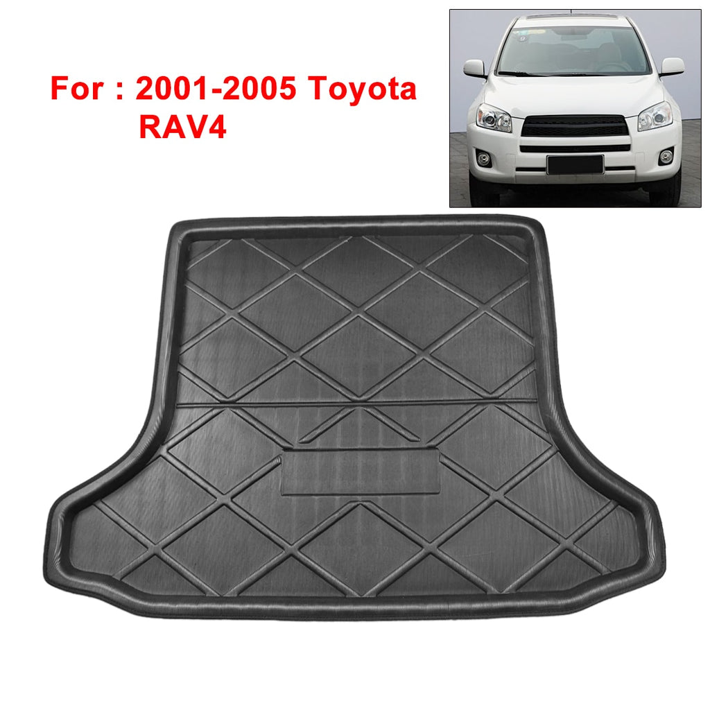 Black Anti-Dirty Rear Trunk Boot Liner Cargo Mat Floor Tray Cover Pad for Toyota RAV4 2001-2005