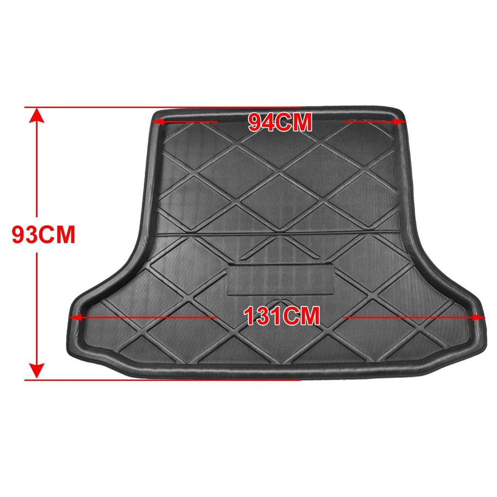Black Anti-Dirty Rear Trunk Boot Liner Cargo Mat Floor Tray Cover Pad Compatible with Toyota RAV4 2001-2005