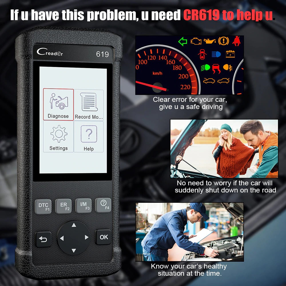 **SPECIAL** Scanner Engine ABS SRS ODB2 by LAUNCH Scan Tool Multi-language Launch OBDII Car Diagnostic Scan Tool Free Updates