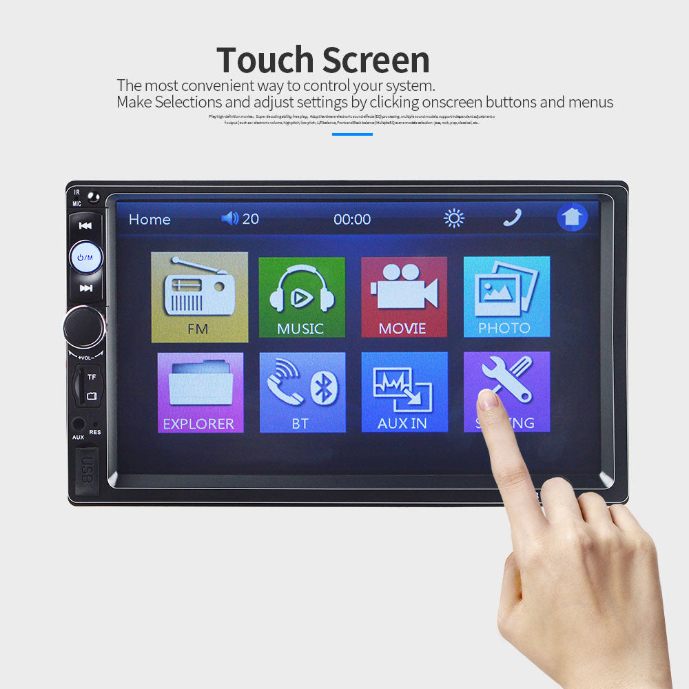 Car Stereo 2 DIN Head Unit with Rear View Camera, Compatible with Nissan, Toyota, Honda
