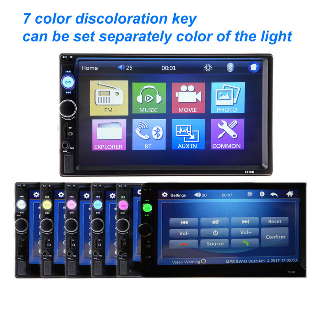 **SPECIAL!** Car Stereo Double DIN Head Unit with Rear View Camera, Bluetooth