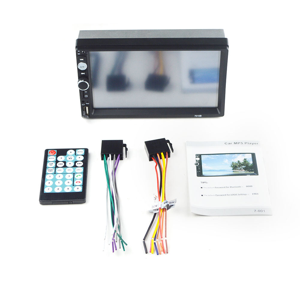 Car Stereo Double DIN Head Unit with Rear View Camera, Bluetooth