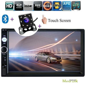 Car Stereo 2 DIN Head Unit with Rear View Camera, For Nissan, Toyota, Honda