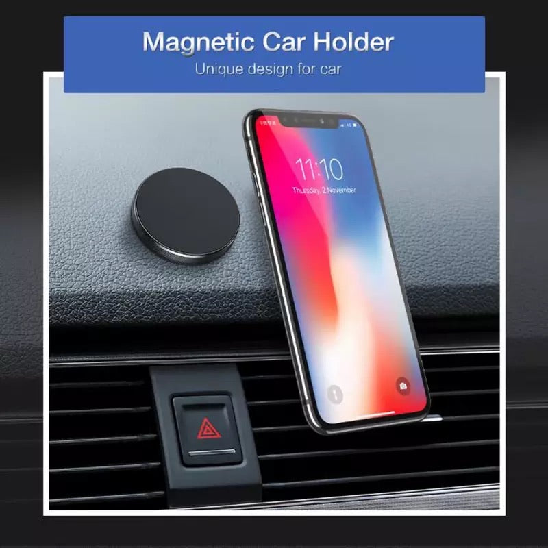 *** PAIR *** Magnetic Phone Holder for Iphone, Samsung (BLACK)