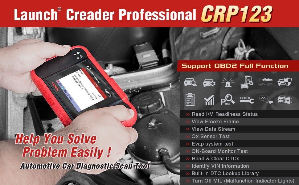 Car Scanner tool Launch X431 CRP123 Creader ENG/AT/ABS/SRS