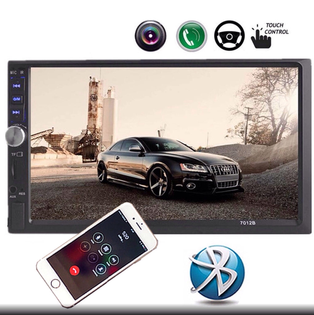 Car Stereo 2 DIN 7 inch Head Unit with Rear View Camera, Bluetooth
