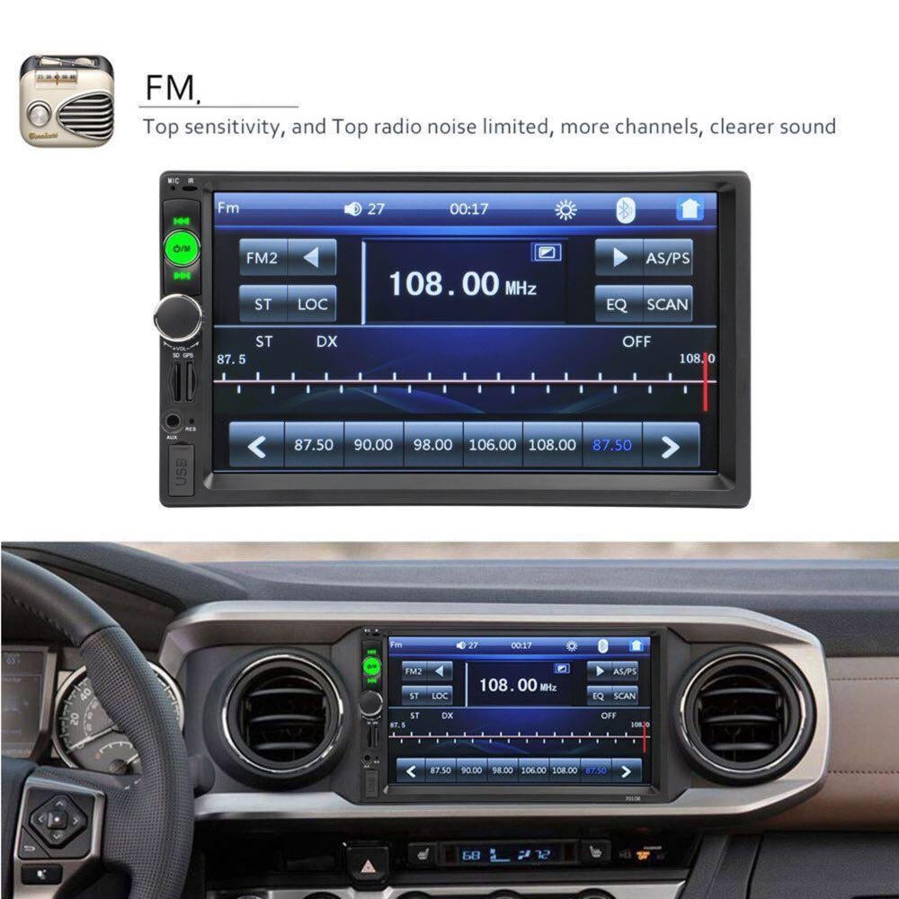 "Car Stereo 2 DIN 7"" MP5 Player + NZ Map GPS Navigation + Bluetooth + Camera"