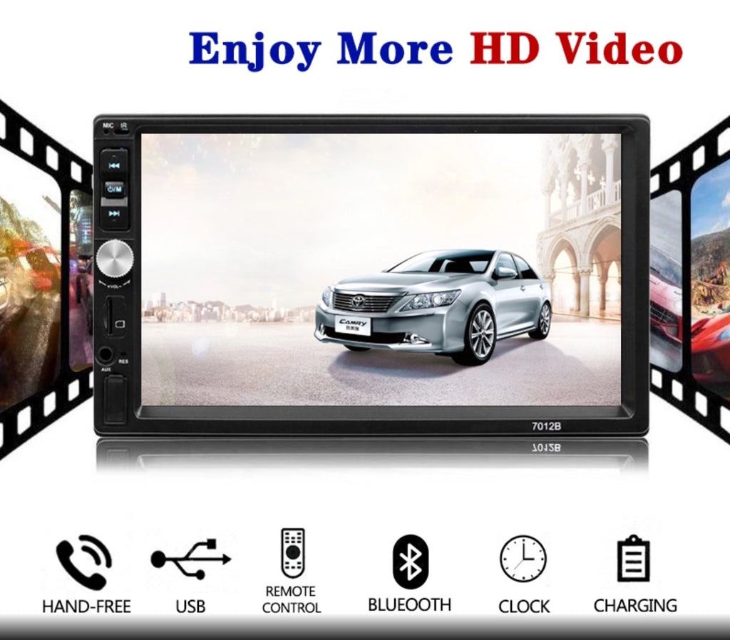 Car Stereo 2 DIN 7 inch Head Unit with Rear View Camera, Bluetooth, Touchscreen