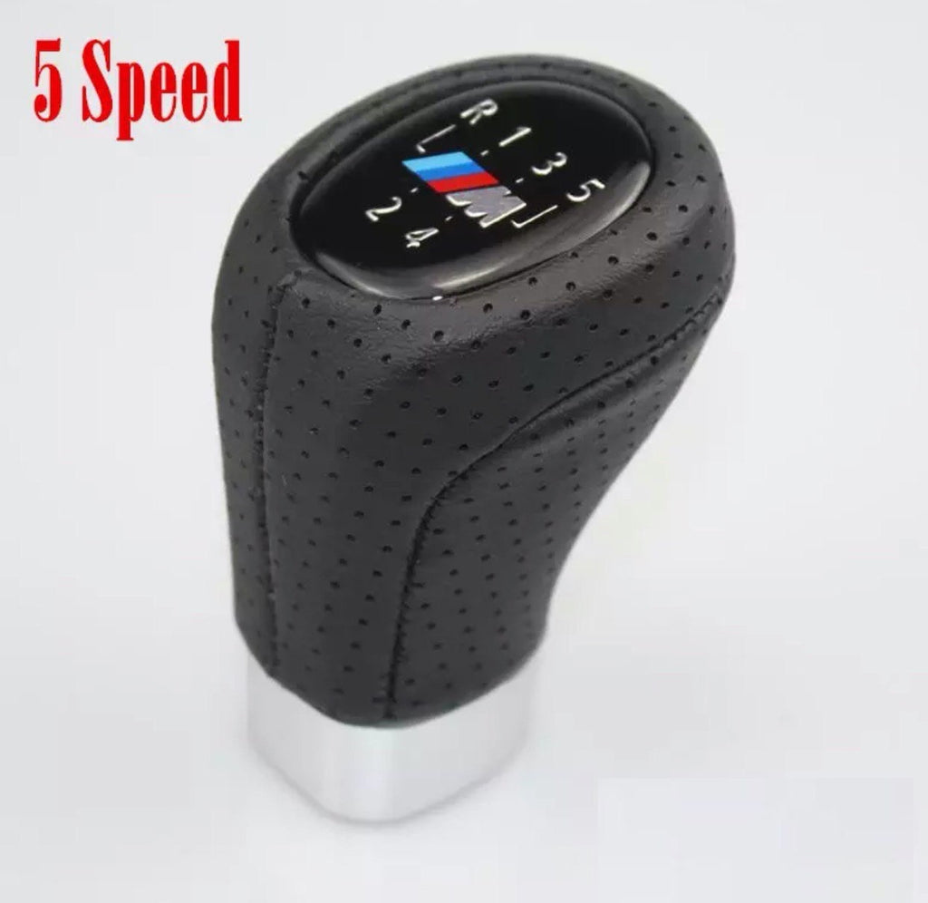 BMW 5 Speed Gear Shift Knob With M Logo For BMW 1 3 5 6 Series E30 E32 E34 E36 E38 E39 E46 E53 E60 E63 E83 E84 E90 E91 /