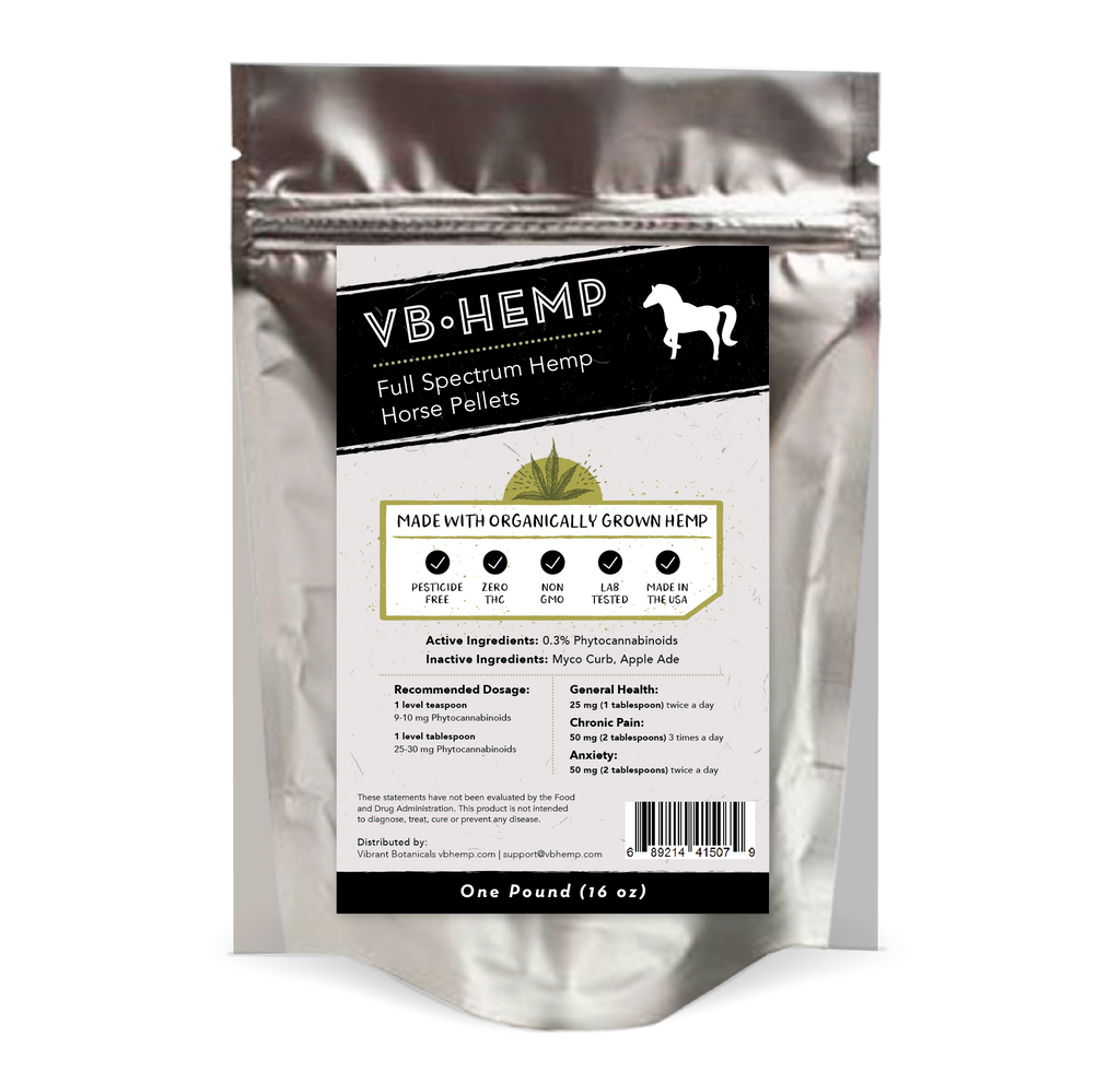 Full Spectrum Hemp Horse Pellets