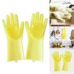 Silicone Cleaning Brush Scrubber Gloves Heat Resistant