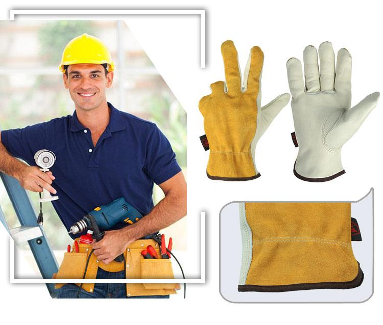 Cowhide Leather Welding Gloves Safety Protective