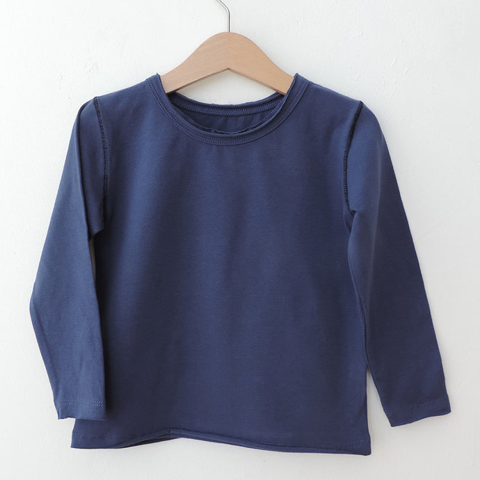 LONG SLEEVES INDIGO TEE