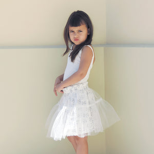 WHITE CATS TUTU DRESS