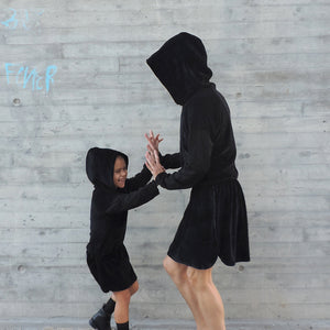 MATCHING SET HOODIE DRESS