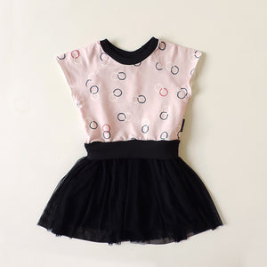 COCO PINK AND BLACK DRESS