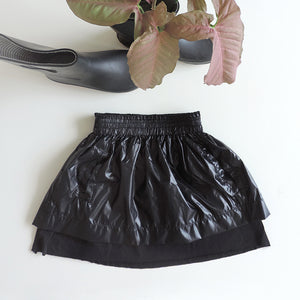 DOUBLE LAYER SKIRT SHINY