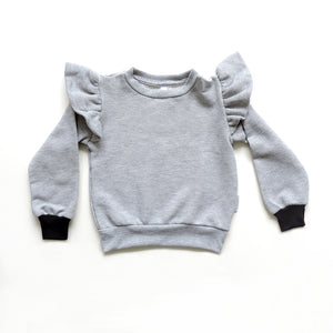 ZOE GREY SWEATSHIRT